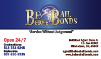 Be Free Bail Bonds - Business Card